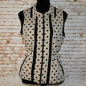 Onque Casual Polka Dot Adjustable Waist Vest